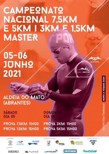 CAMPEONATO NACIONAL DE 7,5KM E 5KM e  1.5Km e 3.0km MASTER