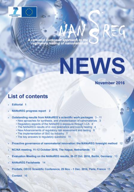 Quinta Newsletter do projeto NANoREG